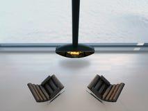 τρισδιάστατες καρέκλες κοντά στην εστία Στοκ φωτογραφία με δικαίωμα ελεύθερης χρήσης
