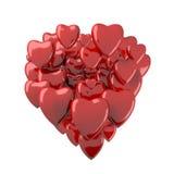 τρισδιάστατες καρδιές βαλεντίνων Στοκ Εικόνα