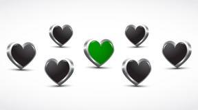 τρισδιάστατες καρδιές υγείας έννοιας Στοκ Εικόνες