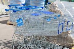 τρισδιάστατες παραγμένες κάρρο αγορές εικόνας Στοκ Εικόνα