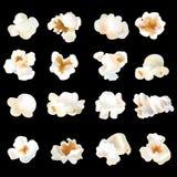 τρισδιάστατες popcorn γαρίδες καθορισμένες τα χρώματα θα μπορούσαν διαφορετικά εμβλήματα διαμορφώνουν logotypes το διάνυσμα χρήση Στοκ φωτογραφία με δικαίωμα ελεύθερης χρήσης