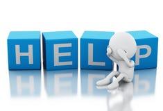 τρισδιάστατη άσπρη βοήθεια ανάγκης ανθρώπων Στοκ εικόνες με δικαίωμα ελεύθερης χρήσης