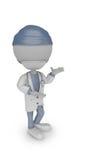 τρισδιάστατη άσπρη παρουσίαση γιατρών ανθρώπων στοκ εικόνα με δικαίωμα ελεύθερης χρήσης
