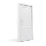 τρισδιάστατη άσπρη πόρτα Στοκ φωτογραφίες με δικαίωμα ελεύθερης χρήσης