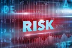 τρισδιάστατη έννοια ανασκόπησης που δίνεται το λευκό κινδύνου Στοκ Εικόνα