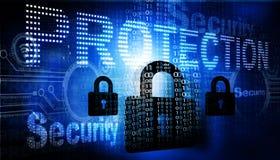 τρισδιάστατη έννοια Διαδίκτυο που δίνει την ασφάλεια Στοκ φωτογραφίες με δικαίωμα ελεύθερης χρήσης