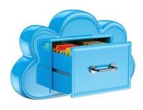 τρισδιάστατη έννοια υπηρεσιών αποθήκευσης σύννεφων Στοκ εικόνα με δικαίωμα ελεύθερης χρήσης