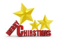 τρισδιάστατη έννοια Χαρούμενα Χριστούγεννας Στοκ φωτογραφία με δικαίωμα ελεύθερης χρήσης