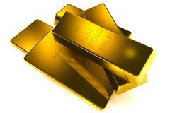 1 τρισδιάστατη έννοια χρυσό κλ 9 999 ράβδων Στοκ εικόνα με δικαίωμα ελεύθερης χρήσης