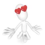 τρισδιάστατη αγάπη χαρακτή& Στοκ Εικόνες