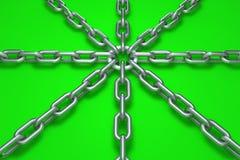 τρισδιάστατη αλυσίδα Στοκ φωτογραφία με δικαίωμα ελεύθερης χρήσης