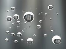 τρισδιάστατη απεικόνιση, αεροφυσαλίδες στο νερό Στοκ Φωτογραφία