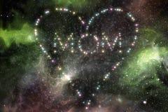 Τρισδιάστατη απεικόνιση αστεριών καρδιών Mom Στοκ Εικόνες