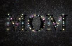 Τρισδιάστατη απεικόνιση αστεριών Mom Στοκ Εικόνες