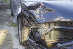 τρισδιάστατη απεικόνιση αυτοκινήτων ατυχήματος που απομονώνεται κατεστημένος άσπρος Στοκ Εικόνα