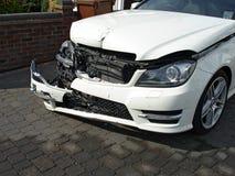 τρισδιάστατη απεικόνιση αυτοκινήτων ατυχήματος που απομονώνεται κατεστημένος άσπρος Στοκ φωτογραφία με δικαίωμα ελεύθερης χρήσης