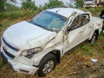 τρισδιάστατη απεικόνιση αυτοκινήτων ατυχήματος που απομονώνεται κατεστημένος άσπρος Στοκ Φωτογραφίες