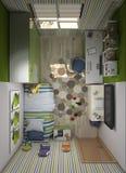 τρισδιάστατη απεικόνιση ενός πράσινου βρεφικού σταθμού για ένα αγόρι Ελεύθερη απεικόνιση δικαιώματος