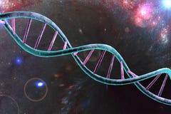 τρισδιάστατη απεικόνιση ελίκων DNA διπλή που δίνεται διανυσματική απεικόνιση