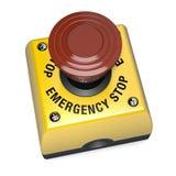 Τρισδιάστατη απεικόνιση κουμπιών διακοπτών στάσεων έκτακτης ανάγκης Στοκ Φωτογραφίες