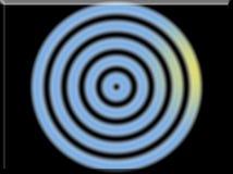 τρισδιάστατη απεικόνιση κύκλων μιας των αρχικών χρώματος αφηρημένων υποβάθρου εικόνας Στοκ Εικόνες