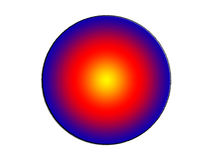 τρισδιάστατη απεικόνιση κύκλων μιας των αρχικών χρώματος αφηρημένων υποβάθρου εικόνας Στοκ εικόνα με δικαίωμα ελεύθερης χρήσης