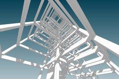 Τρισδιάστατη απεικόνιση δομών κτηρίου σχεδίων αρχιτεκτονικής Στοκ Φωτογραφία
