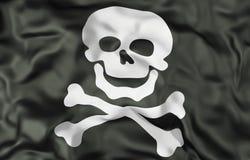 Τρισδιάστατη απεικόνιση σημαιών κρανίων και συμβόλων κόκκαλων Στοκ Φωτογραφία