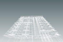 Τρισδιάστατη απεικόνιση συγκυριαρχιών σχεδίων αρχιτεκτονικής Στοκ εικόνα με δικαίωμα ελεύθερης χρήσης