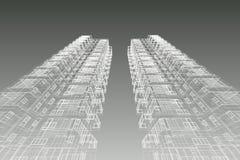 Τρισδιάστατη απεικόνιση συγκυριαρχιών σχεδίων αρχιτεκτονικής Στοκ φωτογραφία με δικαίωμα ελεύθερης χρήσης