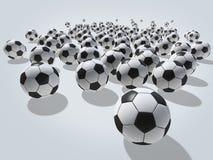 τρισδιάστατη απεικόνιση σφαιρών που δίνεται το ποδόσφαιρο Στοκ Φωτογραφία