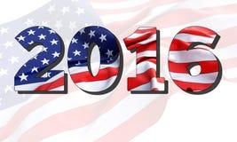 τρισδιάστατη απεικόνιση της αμερικανικής σημαίας του 2016 Στοκ εικόνες με δικαίωμα ελεύθερης χρήσης