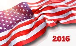 τρισδιάστατη απεικόνιση της κυματίζοντας αμερικανικής σημαίας Στοκ φωτογραφία με δικαίωμα ελεύθερης χρήσης