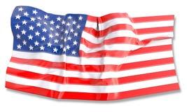 τρισδιάστατη απεικόνιση της κυματίζοντας αμερικανικής σημαίας Στοκ Φωτογραφία
