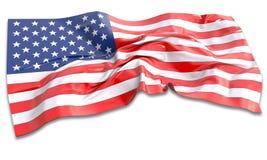 τρισδιάστατη απεικόνιση της κυματίζοντας αμερικανικής σημαίας Στοκ φωτογραφίες με δικαίωμα ελεύθερης χρήσης
