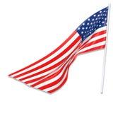 τρισδιάστατη απεικόνιση της κυματίζοντας αμερικανικής σημαίας Στοκ Εικόνες