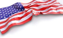 τρισδιάστατη απεικόνιση της κυματίζοντας αμερικανικής σημαίας Στοκ εικόνα με δικαίωμα ελεύθερης χρήσης