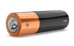 τρισδιάστατη απεικόνιση της μπαταρίας που απομονώνεται πέρα από το άσπρο υπόβαθρο Στοκ Εικόνες