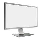 τρισδιάστατη απεικόνιση του υπολογιστή Mornitor των γκρίζων οδηγήσεων στην προοπτική διανυσματική απεικόνιση