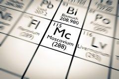 τρισδιάστατη απεικόνιση του χημικού στοιχείου Moscovium ελεύθερη απεικόνιση δικαιώματος