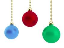 τρισδιάστατη απεικόνιση των σφαιρών Χριστουγέννων Στοκ φωτογραφία με δικαίωμα ελεύθερης χρήσης