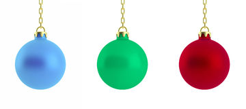 τρισδιάστατη απεικόνιση των σφαιρών Χριστουγέννων Στοκ Φωτογραφία