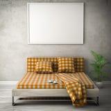 Τρισδιάστατη απεικόνιση δωματίων διαβίωσης άσπρη Στοκ εικόνες με δικαίωμα ελεύθερης χρήσης