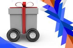 τρισδιάστατη απεικόνιση δώρων τρεξίματος Στοκ εικόνες με δικαίωμα ελεύθερης χρήσης