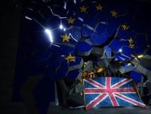 Τρισδιάστατη απόδοση έννοιας Brexit Στοκ Εικόνα