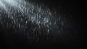 τρισδιάστατη απόδοση βροχής νύχτας ανασκόπησης μαύρη διανυσματική απεικόνιση