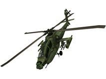 τρισδιάστατη απόδοση ενός αμερικανικού ελικοπτέρου Apache Στοκ Εικόνες