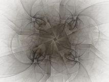 τρισδιάστατη απόδοση με το γκρίζο αφηρημένο fractal σχέδιο Στοκ φωτογραφία με δικαίωμα ελεύθερης χρήσης