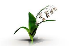 τρισδιάστατη απόδοση μιας αύξησης λουλουδιών απεικόνιση αποθεμάτων