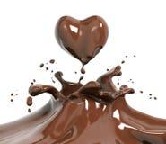 Τρισδιάστατη απόδοση σοκολάτας παφλασμών στοκ εικόνα